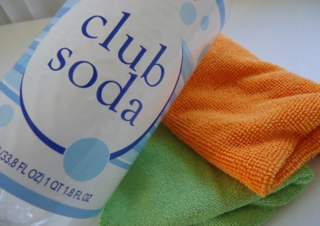 use club soda to clean car upholstry